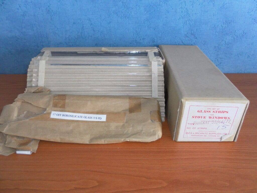 26 Borosilicate Glass Strips, Boxed