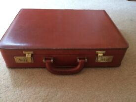 Leather vinatge men briefcase from 70
