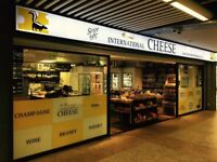 Full-time & Part-time staff required for family run central London cheese business