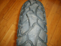 two motorcycle tyres