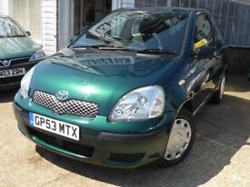 FOR SALE -Toyota Yaris - HPI CLEAR -2 KEYS SUPPLIED - 66,217 miles - PLEASE CALL 07956 218782