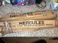 Hercules Microphone stands