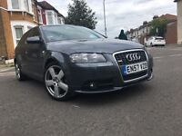 2008 AUDI A3 AUTOMATIC DIESEL SPORTBACK 2.0 TDI 170 S LINE PADDLE SHIFT,1 OWNER-FULL SERVICE HISTORY