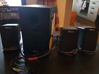 3 x Trust SoundForce PC speakers and woofer