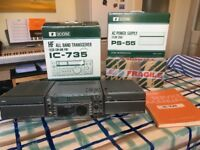 Icom IC735 HF Transceiver, PS-55 Power Supply & AT-150 Tuner