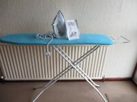 Ironing Board and Steam Iron