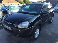 2007/07 HYUNDAI TUCSON CRTD CDX STATION WAGON 5DR BLACK,VERY HIGH SPEC,GREAT CONDITION,DRIVES WELL