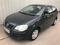2008 (08) Volkswagen Polo 1.2 E - 12 months MOT - 3 door - VW - NOT CORSA FIESTA PUNTO YARIS KA CLIO