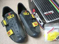 Sidi Revolution One velcro road cycling shoes (1990) size 43, made in Italy - good condition
