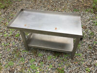 Small stainless steel table for sale