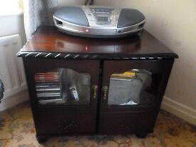 Dark Mahogany Sherlock display/storage cabinet REDUCED
