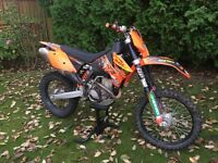 KTM 250 EXC-F enduro. Road registered 2008