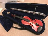 As New Valentino Full Size 4/4 VG-103 Violin Outfit with all Accessories