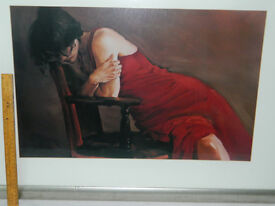 Jack Vettriano style print of lady