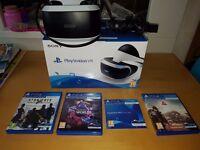 Playstation VR + Camera + 3 Games + Demo disc
