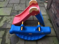Slide and little tikes whale seesaw- toddler