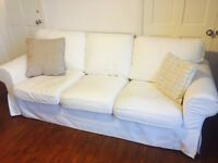 3 seat IKEA Ektorp sofa in White £30 (Buyer Collects)