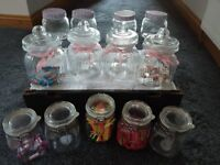 Selection of glass jars and scoops