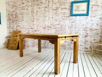 Contemporary Square Leg Extendable Modern Rustic Farmhouse Dining Table - Choice of Finish