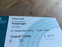 Passenger ticket 7th December Usher Hall