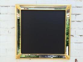 Mirror chalkboard Menu blackboard mirror gold chalkboard wedding chalkboard