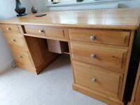 Matching Oak Study furniture