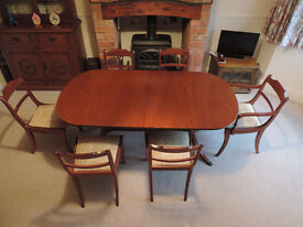 Greaves and Thomas extendable dining table and 6 chairs