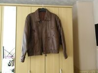 """mens brown 100% leather jacket size 38"""""""