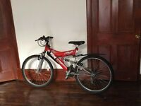 "[URGENT] SHOCKWAVE SUS-450 18 speed full suspension Mountain Bike with 26"" wheels"