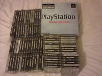 Boxed PS1 Console, 2 Pads, 85 Games (All Complete with manuals)
