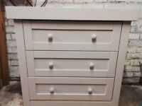 Mothercare Appleby chest of drawers with changing table top