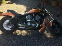 Harley V rod heavily customised over £12000 spent on modifications show winner prestige condition