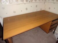 Quality Office Wood Effect Desk with 3 drawers