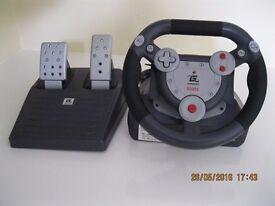 Gamester Steering Wheel for Playstation