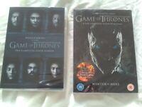 Game of Thrones season 6, 7,dvds,brand new unopened, smoke free home.