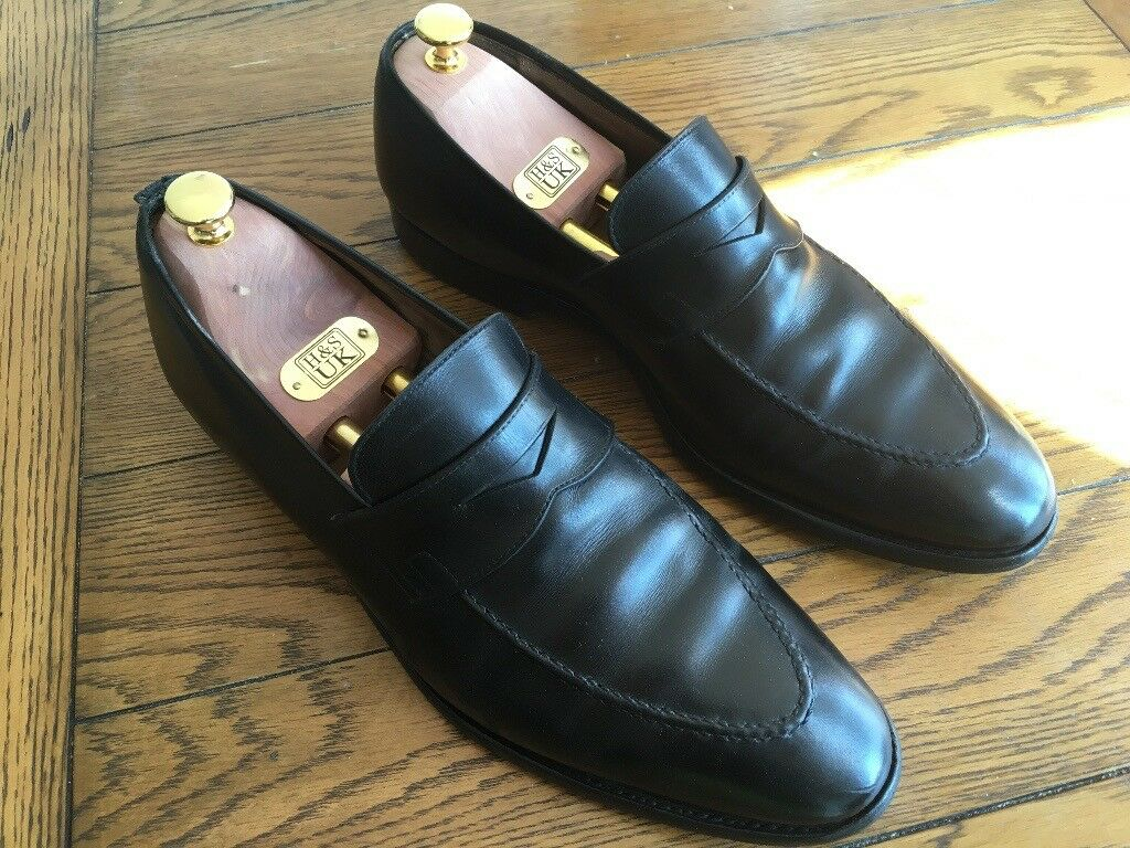 41b42a77d41 Crockett and Jones Sydney Black Loafers UK 10