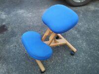 Ergonomic kneeling chair for good posture