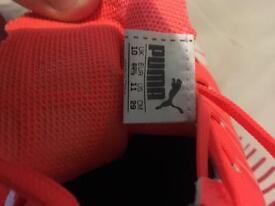 Brand new Orange puma boots evo speed1 size 10