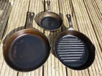 cast iron pans made by Victor