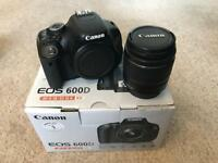 Canon 600D EOS DSLR, 18-55mm lens, accessories and wireless timelapse remote