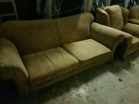 Free 3 seater and 2 armchairs