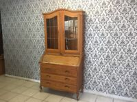 secretary desk Oak Louis XV, French style