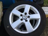 "16"" GENUINE VW MK5 GOLF ALLOY WHEELS ALLOYS TYRES WHEELS RIMS PCD 5 X 112 FITMENT"