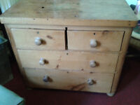 Antique Waxed Pine Chest of Drawers