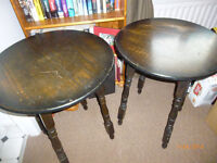 To small solid oak bar tables