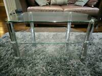 John Lewis glass chrome tv stand