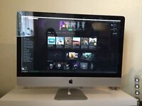 Apple iMac 27-inch 2.80GHz Quad Core i5 12GB RAM/250GB SSD/1TB HDD