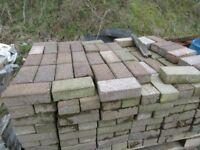 multi coloured block paving bricks
