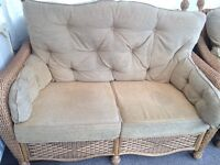 5 piece conservatory furniture for sale 2 chairs settee large coffee table and small table