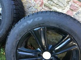 BMW X-5 (F-15) Winter Tyres / Alloys. Toyo Country Contact 255/55/R18/109H. (64) plate onwards.